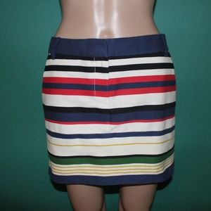 J.Crew Multi-Colored Striped Mini Skirt